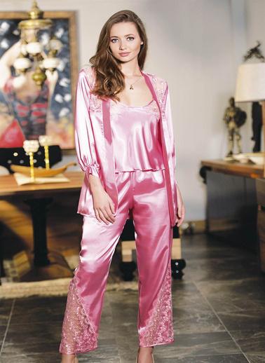 AhuLingerie Pijama Takım Pembe